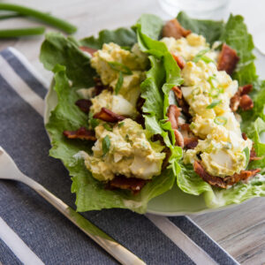 Bacon, Lettuce and Egg Salad Wraps